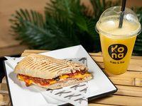 Combo - Medio sándwich a elección + jugo