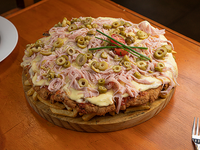 Mini Mila pizza de carne o pollo