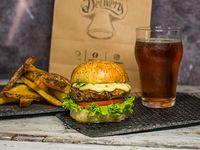 Combo - Hamburguesa la vencedora + papas rústicas + salsa recomendada