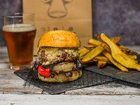 Combo - hamburguesa burguesía + papas rústicas a la provenzal