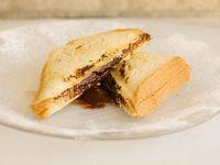 Sandwich caliente de chocolate simple