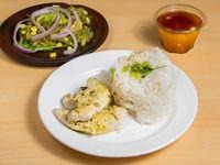 Colación Filete de pollo a la plancha + arroz + ensalada