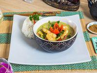 Curry verde de camarón