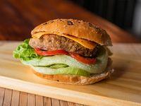 Sándwich de hamburguesa de lentejas