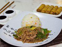 Menú - Porción carne mongoliana