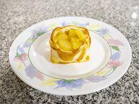 Canastita de ananá, jamón y  muzzarella
