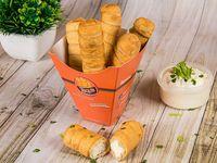 Tequeños premium de queso blanco (5 unidades)