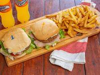 Promo - 2 x 1 hamburguesa completa + papas fritas + bebidas