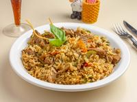 Wok oriental de carne