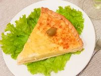 Torta de queso y cebolla