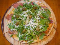 Promo 4 - 1 pizza con muzzarella + 1 pizza con rúcula, jamón crudo y parmesano