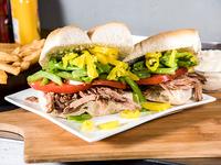Promo - Sándwich de carne mechada chacarero + bebida lata 350 ml