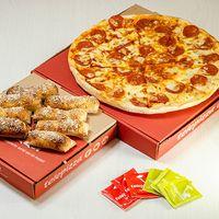Promo - Pizza mediana tradicional + palitos a la parmesana