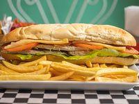 Sándwich de pechuga de pollo especial