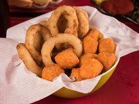 Rancho 1 - Doble porción de papas fritas + 10 aros de cebolla