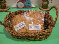 Cookie vegana de avena y arándanos rojos