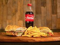 Promo - Lomo completo + papas fritas + Coca Cola 500 ml o cerveza Andes