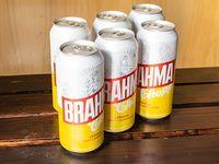 Combo 5 - 6 cervezas Brahma en lata 473 ml