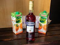 Combo 6 - Campari 750 ml + 2 jugos Baggio 1 L