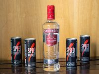 Combo 7 - Vodka Smirnoff 750 ml + 4 energizantes Speed + hielo 2 kg