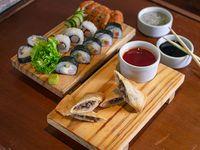 Promo 2 - 20 Piezas armadas por el chef + 2 empanadas chinas