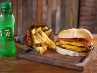 Combo - Hamburguesa blog gigante + fritas + bebida 250 ml