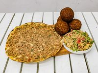 Combo 10 - falafel (4 unidades) + 1 lehmeyún + 1 tabule