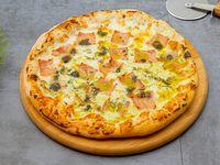 Pizza panna jamón