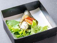 Temaki de salmon (1 cono)