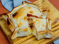 Tarta de jamón, queso, tomate y huevo