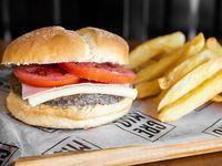 Combo napolitano - Hamburguesa 130 g de carne + papas fritas