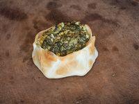 Calzone individual de espinaca y queso