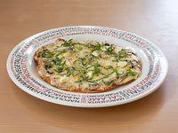 Pizza Vegetariana Mediana Tres Quesos Champiñón
