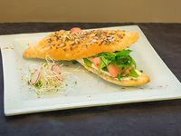Baguette/Bagel de salmón ahumado