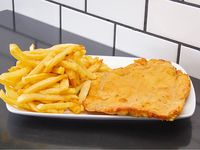 Sándwich de pechuga grillé solo + papas fritas