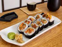 Futomaki de tempura de vegetales (10 piezas)