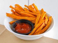 Bastones de boniatos fritos