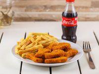 Promoción - Nuggets de pollo + papas fritas + gaseosa línea Coca Cola 250 ml