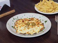 Milapizza fondue de quesos con papas fritas