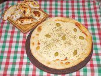 Promo 2 - Pizza grande de muzzarella o fugazza con muzzarella + 6 empanadas
