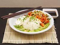 Veggie sushi salad