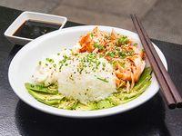 Coocked sushi salad