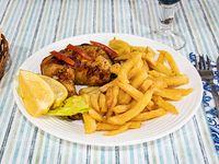 Promoción - 1/4 Pollo con papas fritas