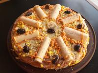 Pizza especial con palmitos grande