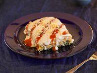 Lasagna bolognesa con salsa blanca y tuco