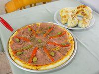 Promo - Pizza grande de jamón y morrones + 6 empanadas