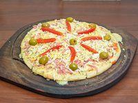 Pizza con, huevo 8 porciones