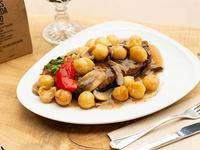 Bife de chorizo al champignón con papas noisette (individual)