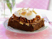 Brownie de dulce de leche & merengue