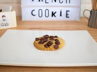Cookie confitado de naranja y chocolate semi amargo (vegana)